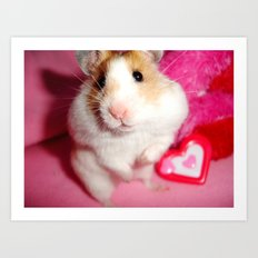 Pixi the Hamster: Love Edition Art Print