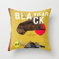 The Black Toad Project Throw Pillow