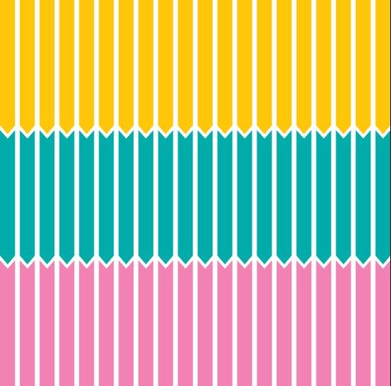 Arrows (Yellow, Aqua, Pink) Canvas Print