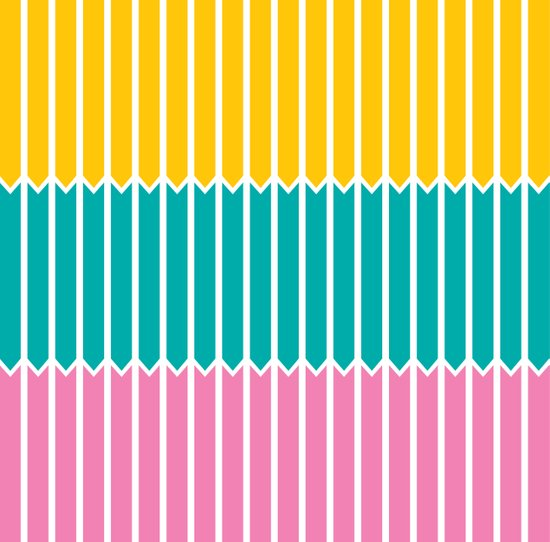 Arrows (Yellow, Aqua, Pink) Art Print