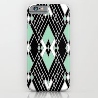 iPhone & iPod Case featuring Art Deco Zoom Mint by Project M