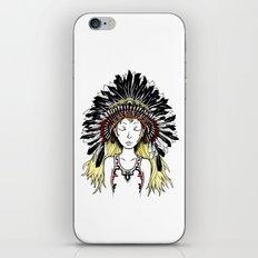 Native American Girl (colored) iPhone & iPod Skin