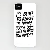 #NOREGRETS iPhone (4, 4s) Slim Case