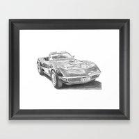Chevrolet Corvette C3 Framed Art Print