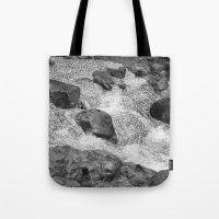 geometric waterfall Tote Bag