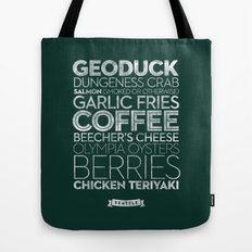 Seattle — Delicious City Prints Tote Bag