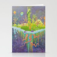 Aeolus 's flying island Stationery Cards