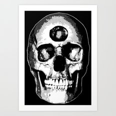 Third Eye Bones (Black and White Edition) Art Print