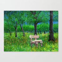 Sit with me  Canvas Print