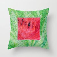 Fresh: Watermelon Throw Pillow