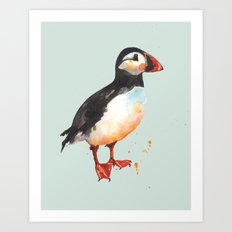 Puffin - Archie Aviator Art Print