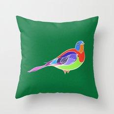Bird - Green Throw Pillow