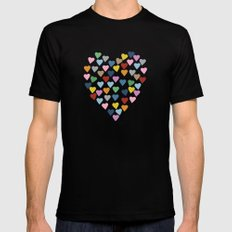 Hearts Heart Teacher Mens Fitted Tee Black SMALL