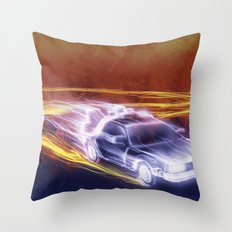 Neon Back to the Future Throw Pillow