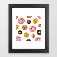Donuts and Junk Framed Art Print
