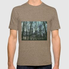 Winter Forest Mens Fitted Tee Tri-Coffee SMALL