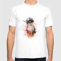 Spain Owl Mens Fitted Tee White SMALL