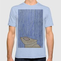 Rain Girl Mens Fitted Tee Athletic Blue SMALL