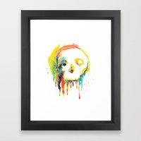 Happy/Grim Framed Art Print