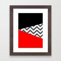 Color Blocked Chevron 10 Framed Art Print