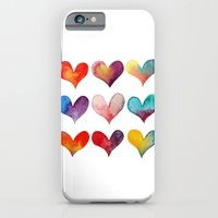 iPhone & iPod Case featuring color of hearts by yukamila:::Yuka Miller illustrations
