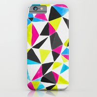 watercolor geometry CMYK iPhone 6 Slim Case