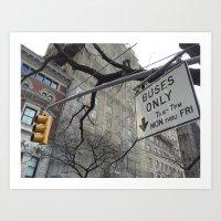 Lights and Signs Art Print