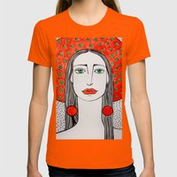 Panama Womens Fitted Tee Orange SMALL