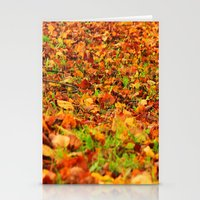 Autumn carpet Stationery Cards