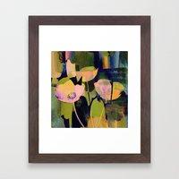 3 Abstract Flowers  Http… Framed Art Print