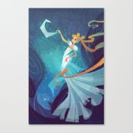 Serenity On The Moon Canvas Print