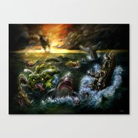 Plight Of The Seabots Canvas Print