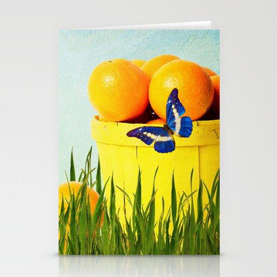 Orange Stationery Card