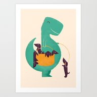 T-Rex And His Basketful … Art Print
