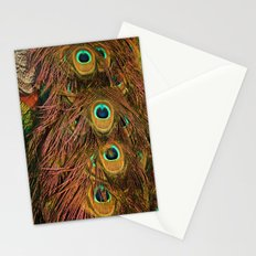 Peacocks feathery tail Stationery Cards