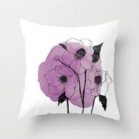 Helleborus Throw Pillow