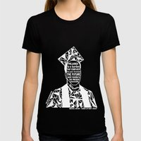 Michael Brown - Black Lives Matter - Series - Black Voices Womens Fitted Tee Black SMALL