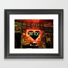 Tattooed Framed Art Print