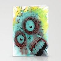 Frenzied Zombie Stationery Cards