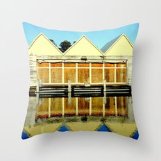 Reflections Of An Old Bo… Throw Pillow