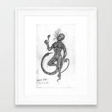 Black Yoga: self-sacrifice Framed Art Print