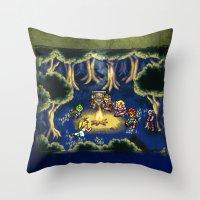 Chrono Trigger Camping Scene Throw Pillow