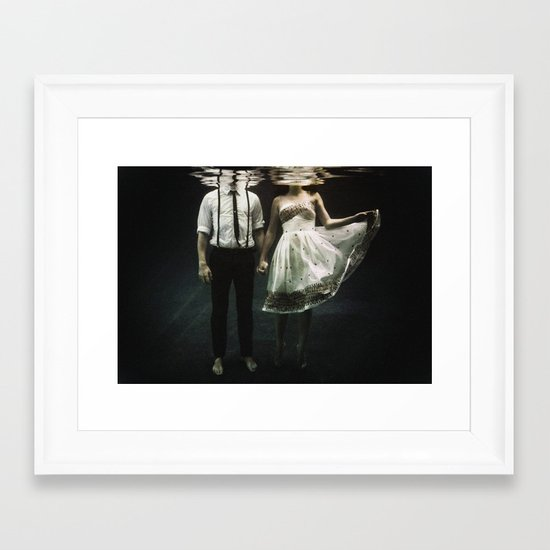 abyss of the disheartened : IV Framed Art Print