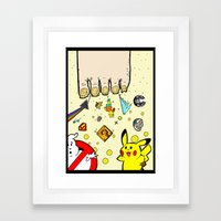 The Sand Between God's Toes Framed Art Print