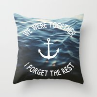Forget The Rest Throw Pillow