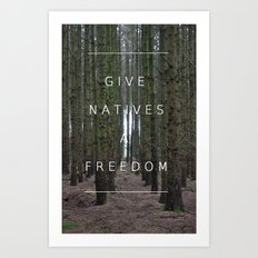 Native Freedom Art Print