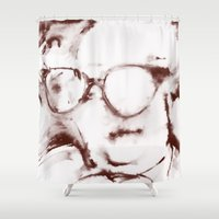 The Visionary Sepia Shower Curtain