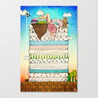Princess Peach And The P… Canvas Print