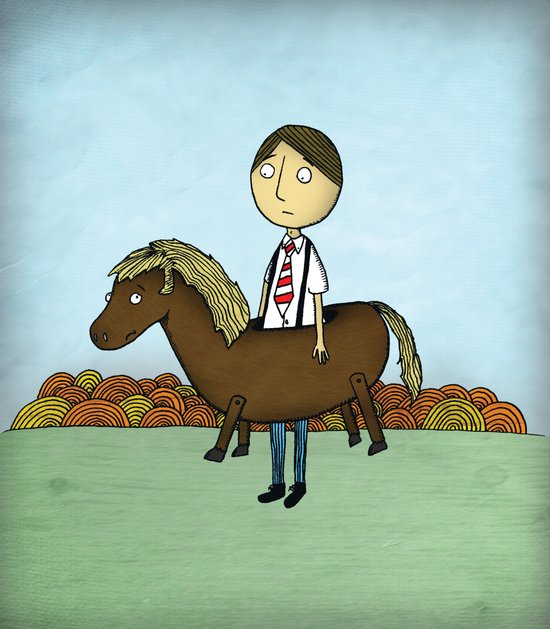 Horseback Canvas Print