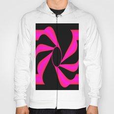 Abstract. Pink+Black Dot. Hoody